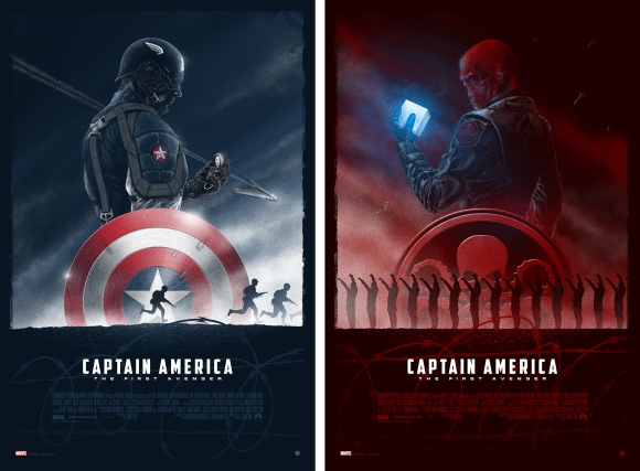 Captain America The First Avenger & Red Skull Set