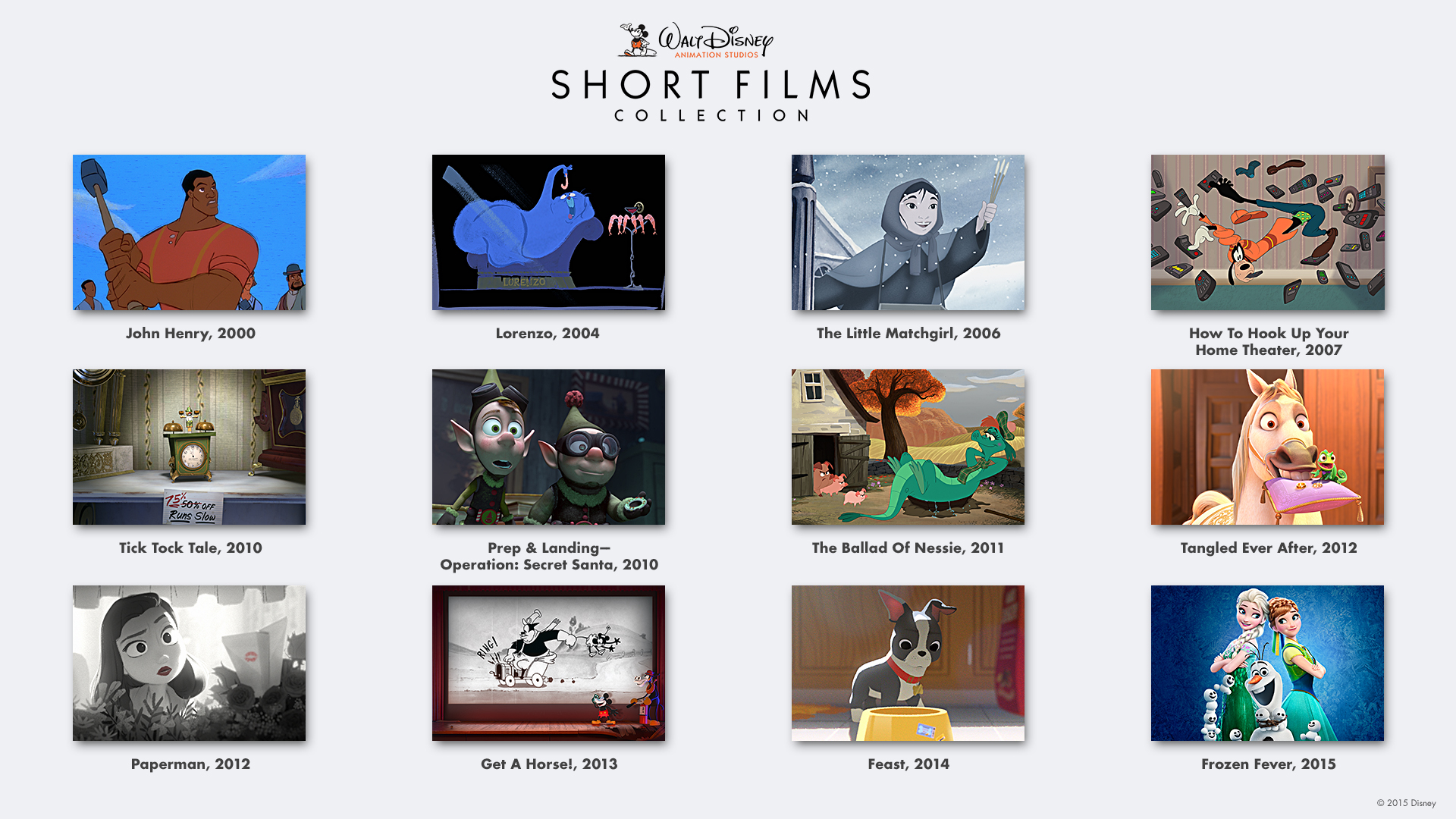 walt disney animation studios shorts collection available
