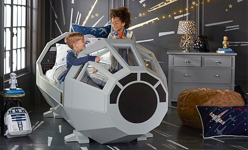 The Pottery Barn Millennium Falcon Bed