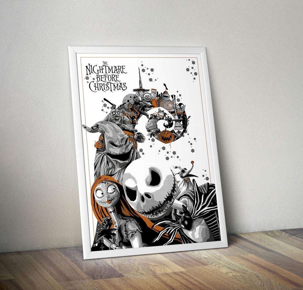 Mr. Jack Nightmare Before Christmas Print By Simon Delart |