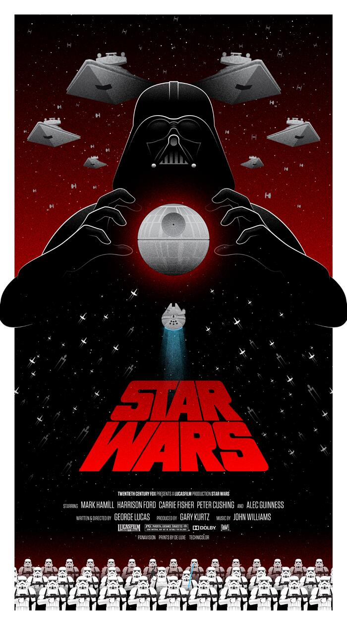 the 25 greatest star wars posters of all time. Black Bedroom Furniture Sets. Home Design Ideas