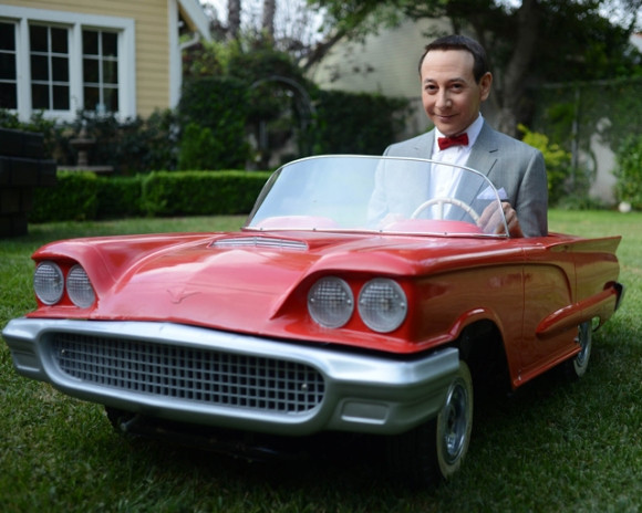 Peewee-Herman-in-a-little-red-car