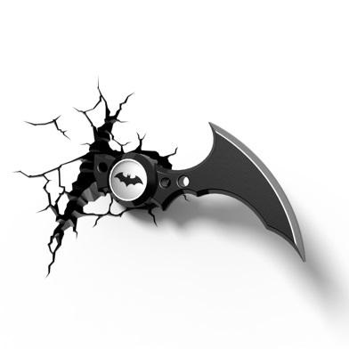 Batman batarang 3d wall light it looks like batman missed his mark and his batarang has smashed into your wall this awesome 3d wall light resembles batmans infamous weapon and emits a aloadofball Choice Image