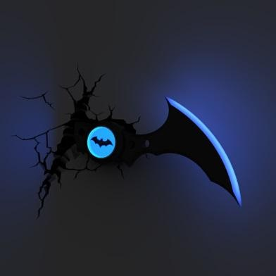 Batman batarang 3d wall light 2 aloadofball Choice Image