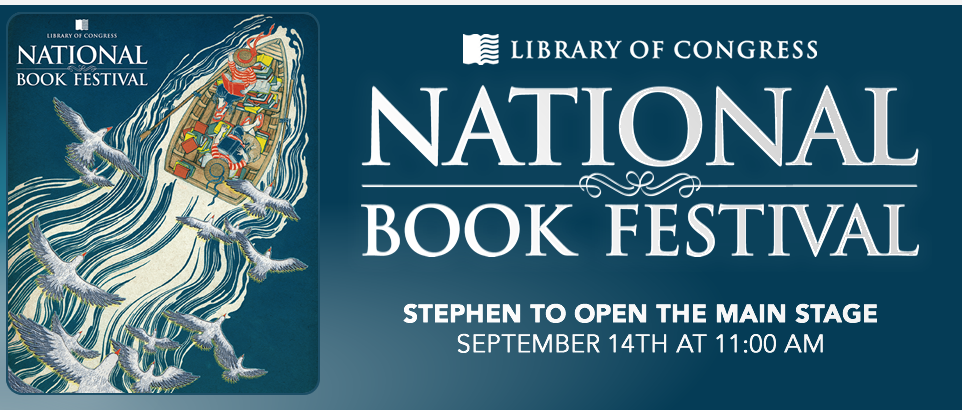 Stephen King To Open Main Stage At 2016 National Book Festival |