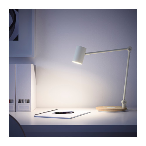 Ikea Riggad Led Work Lamp With Wireless Charging