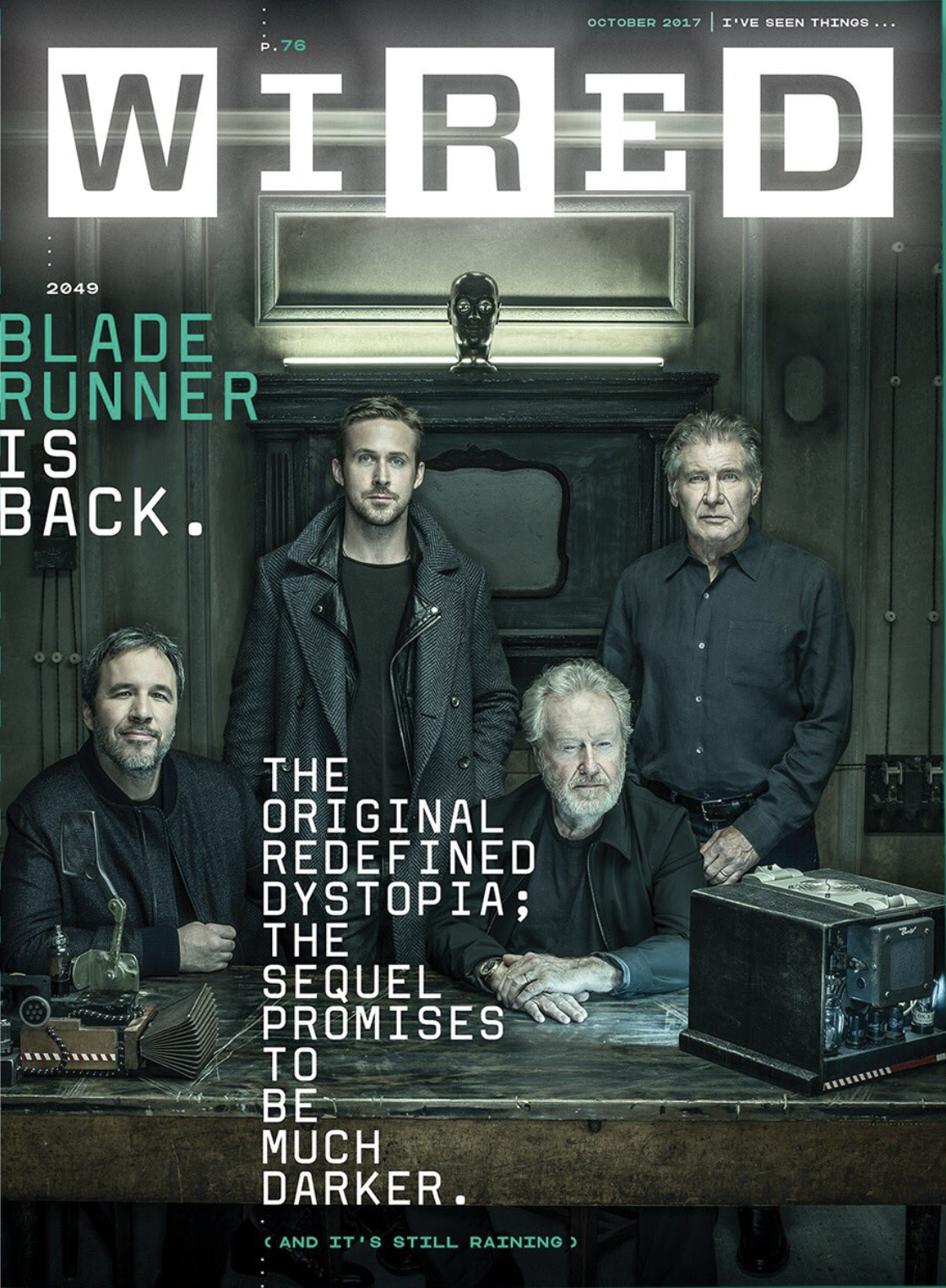 WIRED\'s October Cover Story Features Blade Runner 2049 |