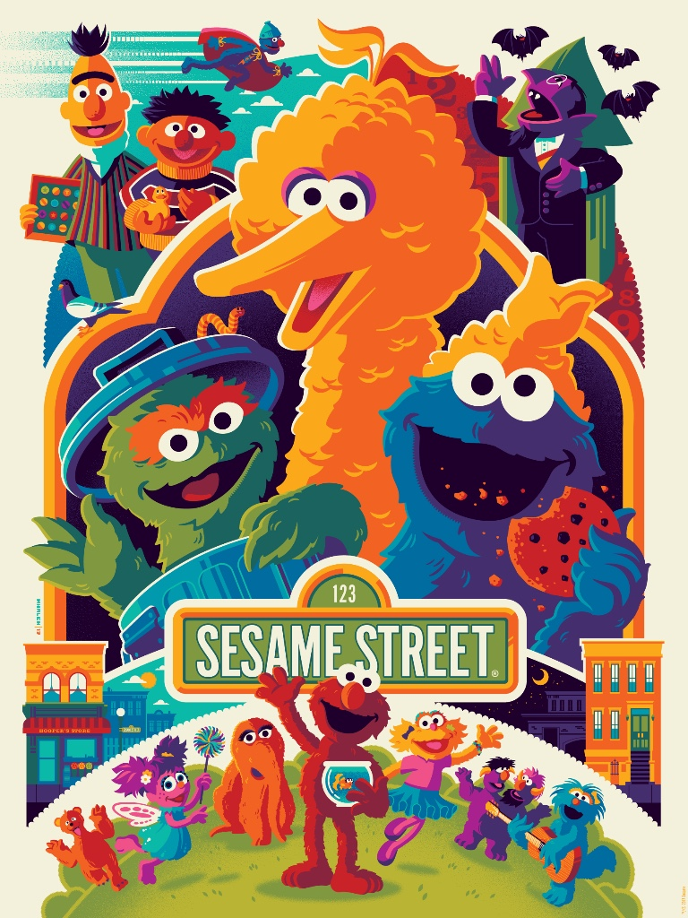 Dark Hall Mansion To Release Sesame Street Prints By Tom