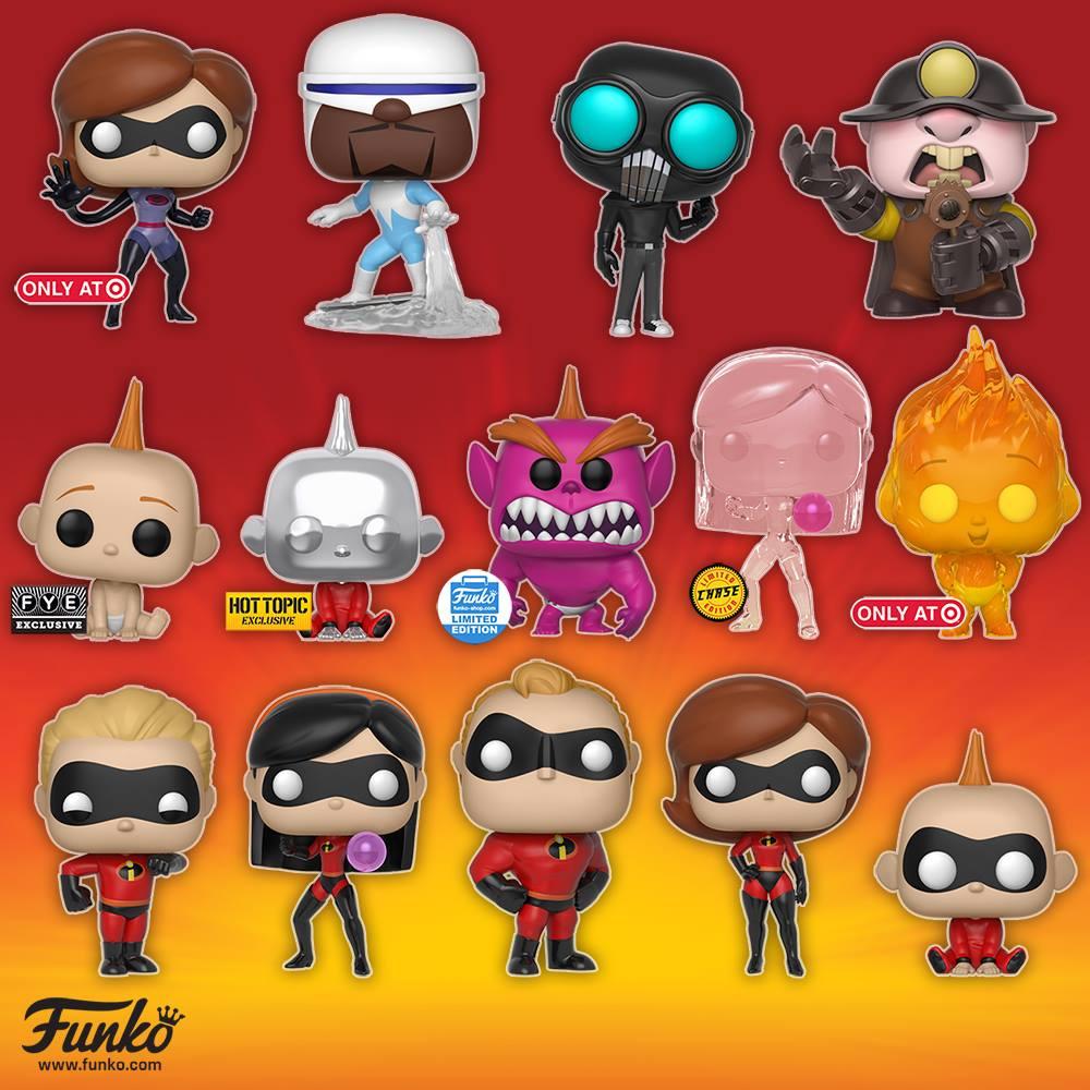 Funko Pop Incredibles 2 Figures