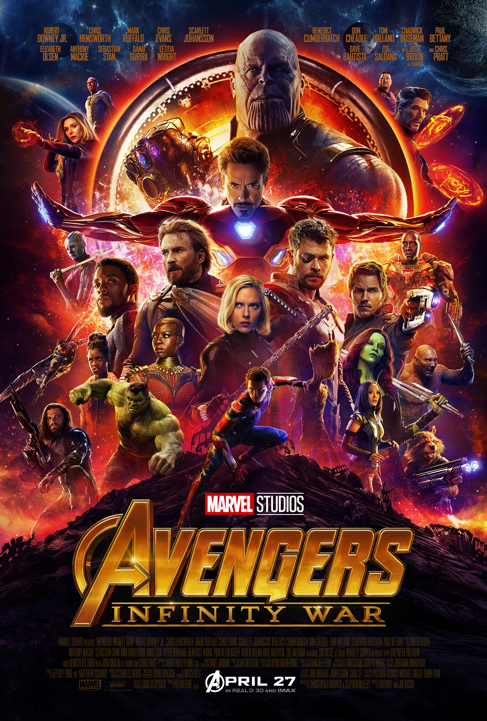 avengers: infinity war debuts with record $630 million worldwide  