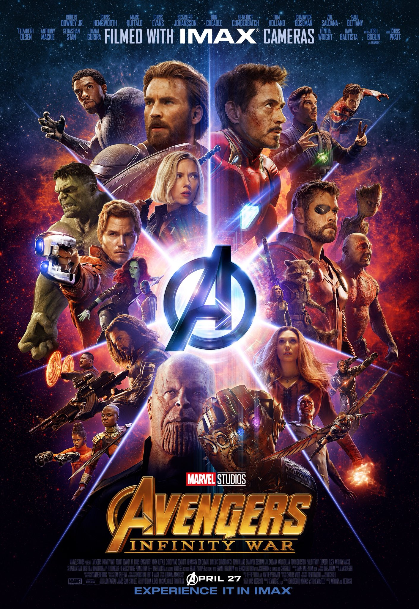 the imax avengers infinity war poster has arrived |