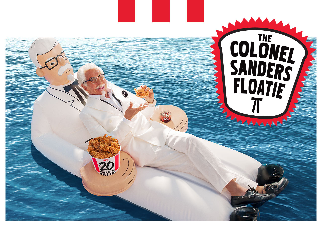 1339548ff6 KFC says it wants to help its customers enjoy the hot summer with fried  chicken and a limited-edition floatie depicting Colonel Sanders himself.