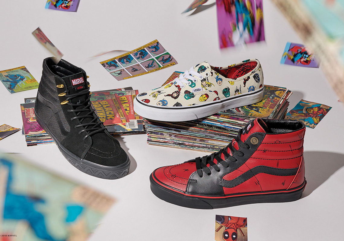 b8c1514d14 The Vans x Marvel collection kicks off with a selection of footwear  inspired by The Avengers. Representing the Super Hero squad