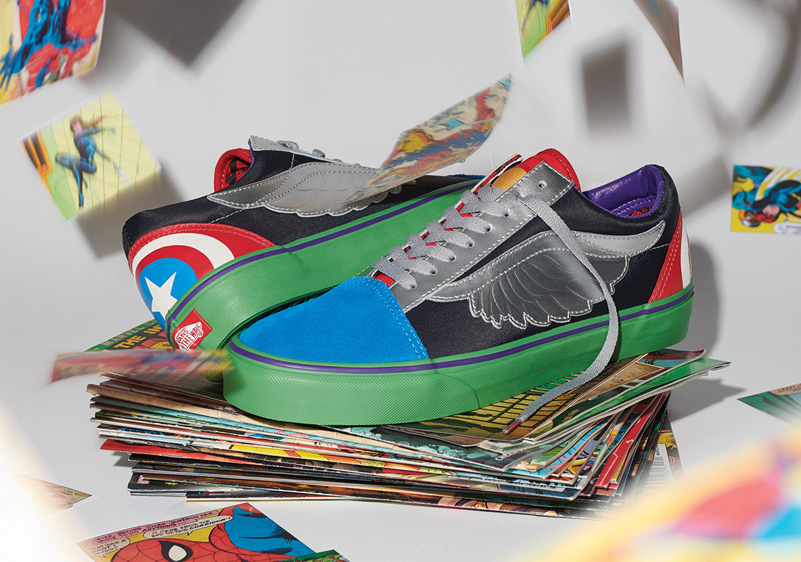 huge selection of 9e03d b920e Kids and toddlers can get in on the action with their own apparel and  footwear styles from the Vans x Marvel collection. Highlights from the  assortment ...