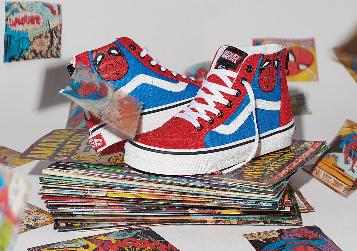 3785a8808ba Kids and toddlers can get in on the action with their own apparel and  footwear styles from the Vans x Marvel collection. Highlights from the  assortment ...