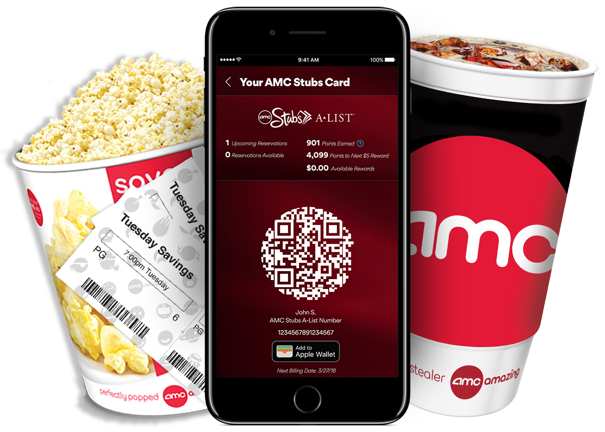 AMC Theatres has upped the ante in the monthly movie ticket subscription war with MoviePass, and is adding a new tier to its current rewards program called AMC Stubs A-List. For $