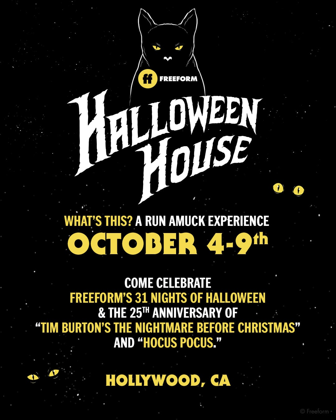 in celebration of freeforms recently announced 31 nights of halloween programming event the network is transforming the historic lombardi house in