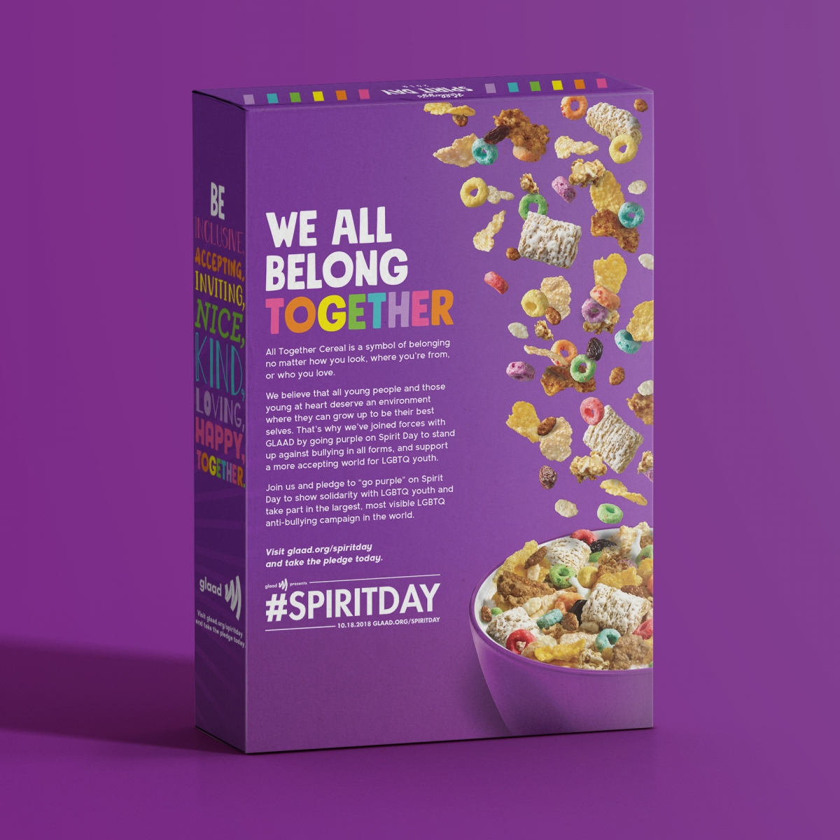"""Kellogg Partners With GLAAD For Spirit Day, Launching """"All"""