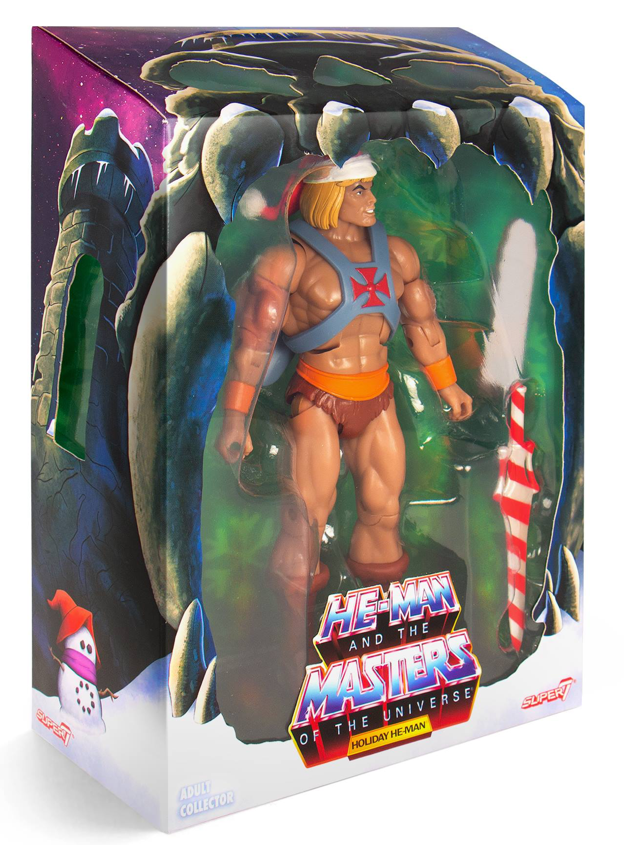 New Super 7 Holiday He-Man édition limitée Noël Club Exclusif Grayskull