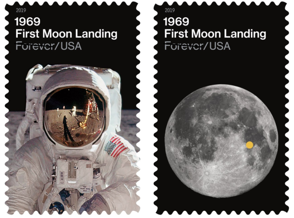 New Stamps Celebrate 50th Anniversary of First Moon Landing |