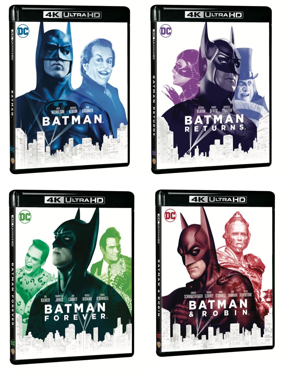 Batman Batman Returns Batman Forever And Batman Amp Robin